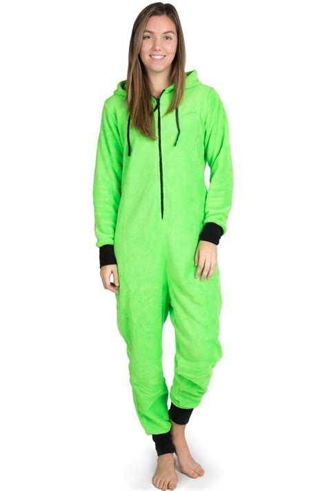onesie pajamas bright green onesie pajamas 2