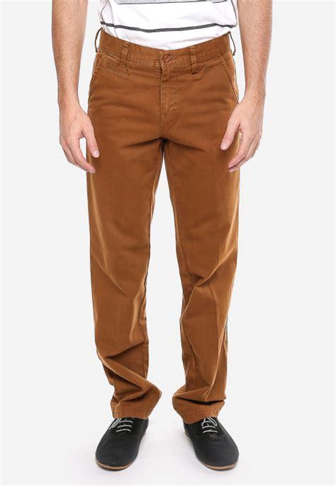 Celana Katun Formal Coklat celana katun coklat kemerahan tilan casual model