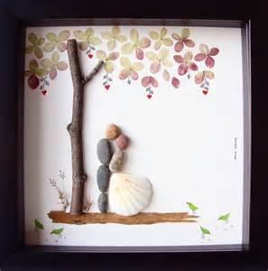 Wedding Presents Unique Wedding Gift For Couple Wedding Pebble Art Unique