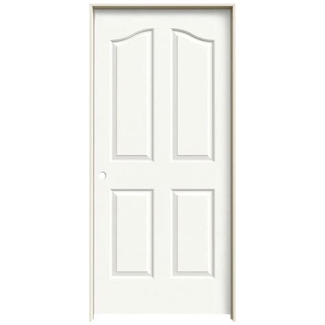 home depot hollow interior doors jeld wen 36 in x 80 in molded textured 4 panel eyebrow