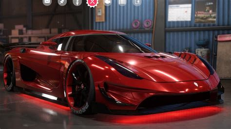 koenigsegg car from need for speed need for speed payback koenigsegg regera customize