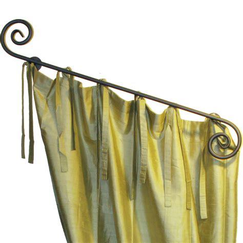 scroll curtain rod scroll rod with pegs ona drapery hardware
