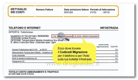 ufficio fastweb codice migrazione dove si trova e a chi non comunicarlo