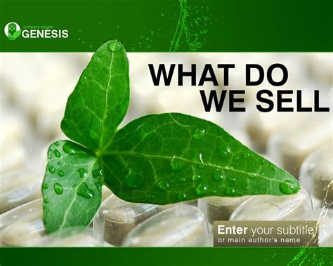 herb powerpoint themes herbal powerpoint template 34279