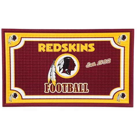redskins paint colors home depot evergreen washington redskins 18 in x 30 in embossed