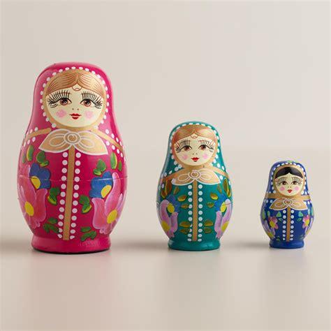 russian nesting dolls set of 3 world market