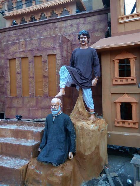 visited  bahubali  themed durga puja pandal
