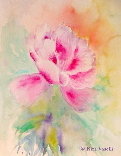 fiori acquarello dipingere fiori ad acquarello parte terza paperblog