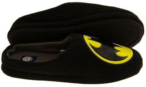 batman slippers mens beautiful mens batman slip on padded mule slippers sizes