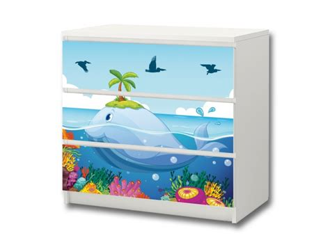 aufkleber für ikea malm kommode underwater world stickers for ikea malm 3 drawers stikkipix
