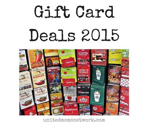 Gift Cards Deals - christmas holiday gift card deals 2015 united moms network