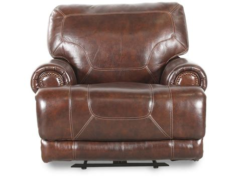 traditional leather recliner traditional leather 43 quot recliner in brown mathis