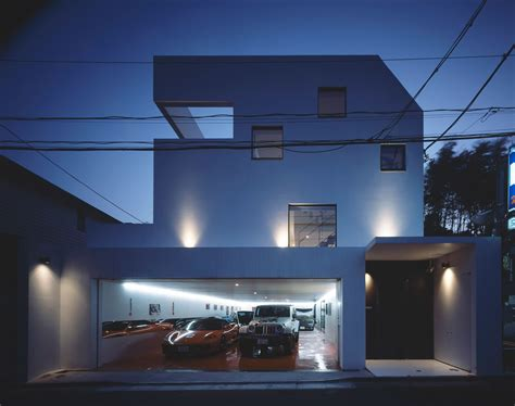 nine car garage kre house by no 555 architectural design