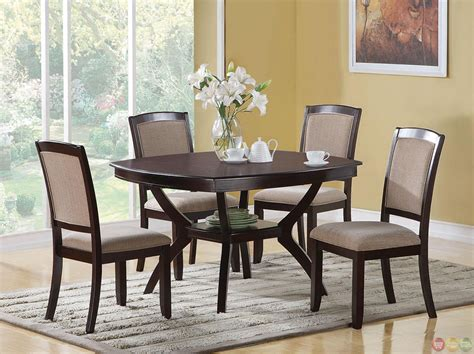 cappuccino 5 casual dining room set