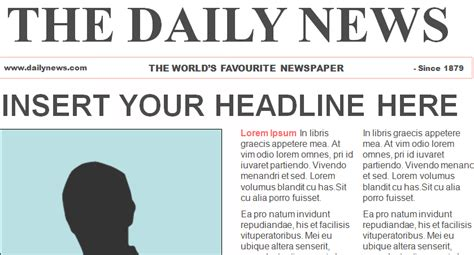 best photos of blank newspaper template for word blank