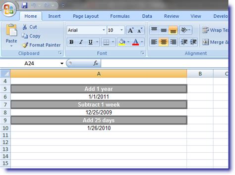 excel format yyyy ww excel dateadd function add or subtract days from a date