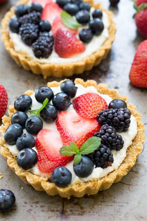 fruit tart no bake mascarpone fruit