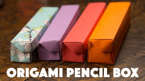How To Make A Origami Pencil - how to make pencil box with paper 28 images pencil 2