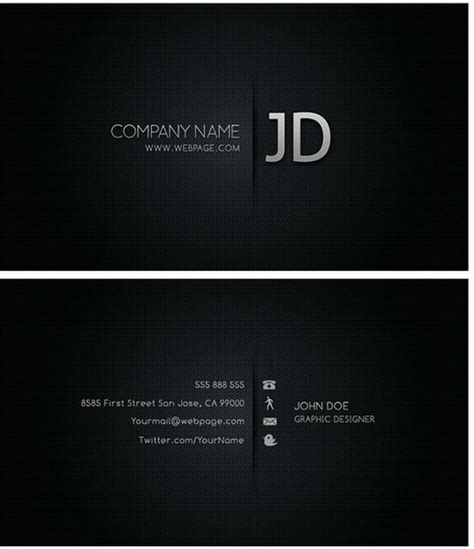 Cool Business Card Templates Photoshop by Cool Business Card Templates Psd Layered Free Psd In