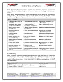 electrical design engineer sle resume and gas electrical engineer resume sle 28 images