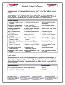 Sample Resume Of An Electrical Engineer