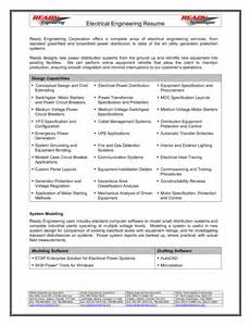 Resume Samples For Electrical Engineers resume for electrical engineer 2017 resume 2017