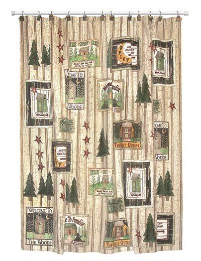 Cabin Shower Curtains Shower Curtains Outhouses Home Decoration Ideas