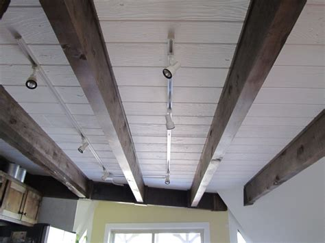 How To Paint Ceiling Beams by Kitchen Ceiling Redo Before And After
