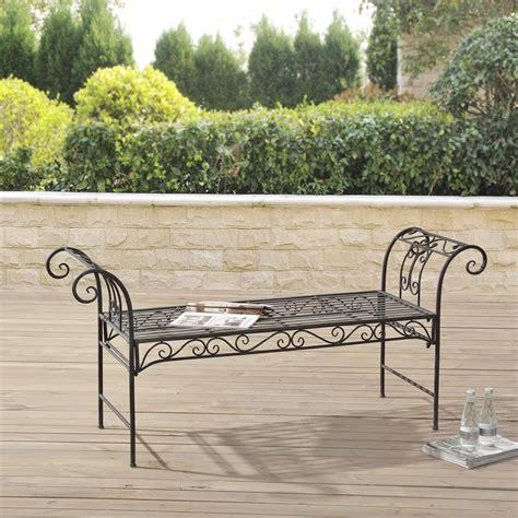 metal garden bench ebay casa pro metal garden bench park bench seat 70x147x46 cm