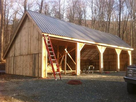 sided shed open sheds wood store shed