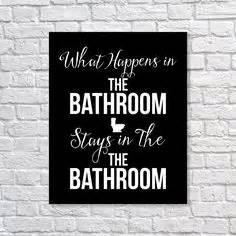 Bathroom Humor Prints Bathroom Sign Remain Seated Sign Bathroom