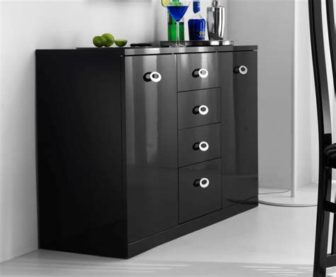 Black High Gloss Small Sideboard black high gloss sideboard uk delivery