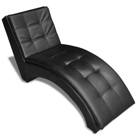 faux leather chaise lounge faux leather chaise lounge with head rest in black buy