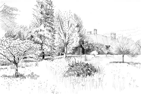 drawing of garden anny evason artlog landscape drawing design and the
