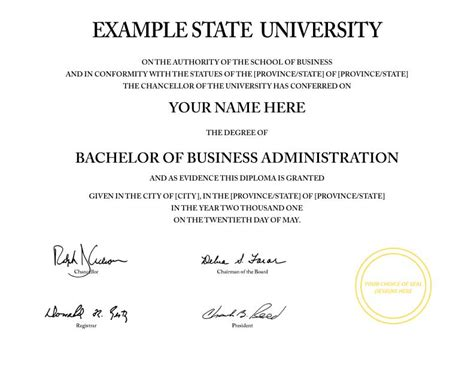 pin fake college certificate business degree harvard