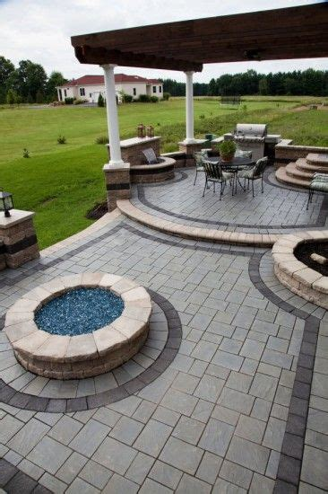 Leveling Patio Pavers Richcliff 174 Multi Level Patio With Pit Homeowner Fireplaces Pits Pinterest Patios
