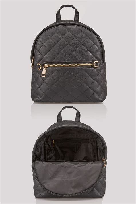 black small quilted backpack