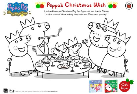 christmas colouring pages peppa pig peppa pig peppa s christmas wish free colouring download