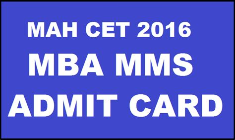 Mba Cet 2016 Number Of Applicants by Mah Cet Admit Card 2016 Mba Tickets
