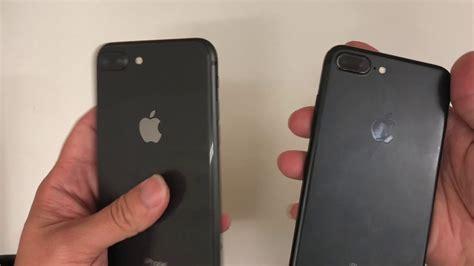 iphone 8 plus space grey vs iphone 7 plus black comparison
