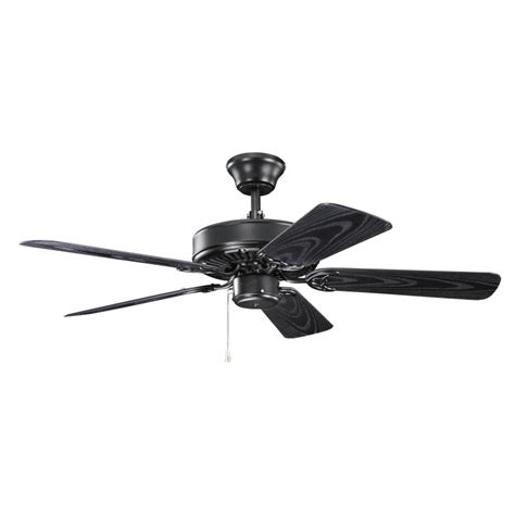 42 in outdoor ceiling fan kichler 414sbk basics revisited satin black finish indoor