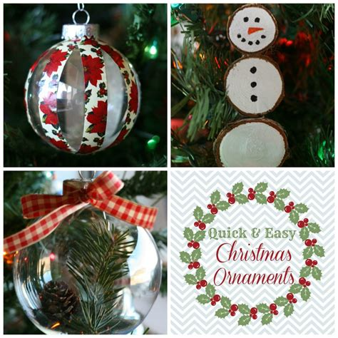 quick easy christmas ornaments addicted  diy