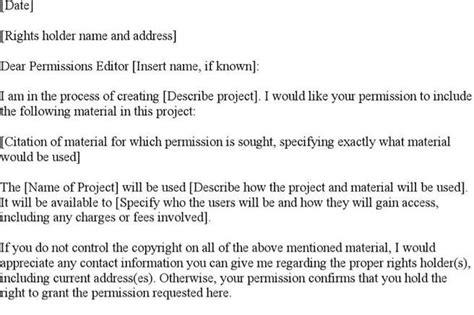 copyright permission letter template permission letter templates free premium