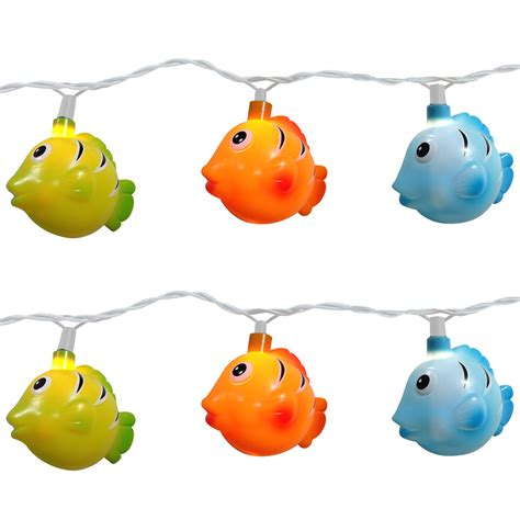 fish string lights colorful tropical fish string lights