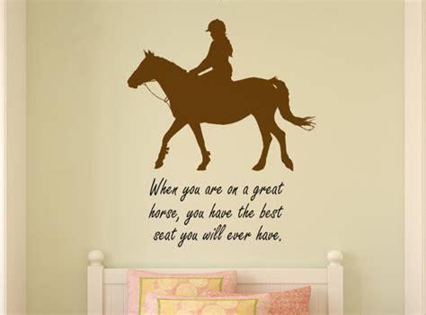 horse decal pony quote wall sticker teen girls room decal horse decal horse rider wall words quote word art teen girl