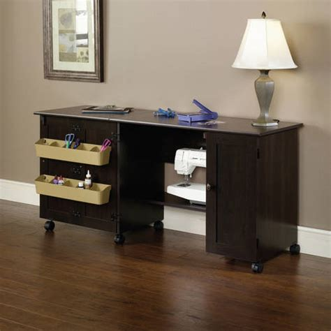 Sewing Desk by Sauder Sewing And Craft Table Finishes Walmart
