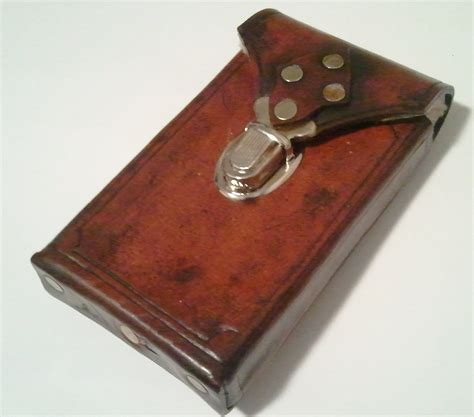Handmade Leather Cell Phone Cases - steunk leather cell phone made to fit most android