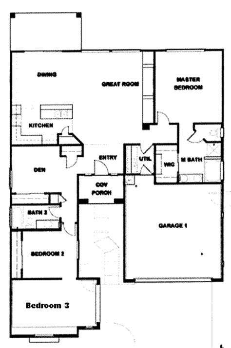 3 Bedroom Ranch House Floor Plans by Verde Ranch Floor Plan 1664 Model