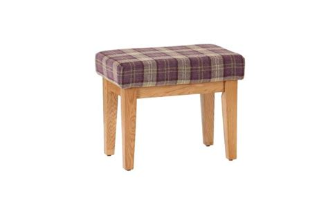 small cushioned bench small solid oak bench with tartan cushioned seat heather