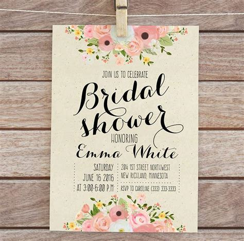 wedding shower invitations templates free bridal shower invitations templates free www